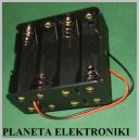 Koszyk uchwyt pojemnik na baterie AA 8x R6