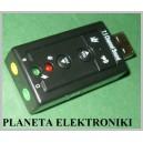 KARTA DŹWIĘKOWA Muzyczna USB 7,1 zewnętrzna