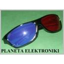 Okulary 3D niebiesko czerwone ANAGLIF