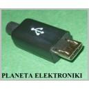 Wtyk micro USB typ B na kabel