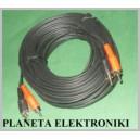 Kabel 2x wtyk RCA ( cinch ) - 2xRCA 15m
