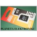 Karta pamięci MICRO SD 4GB + adapter Goodram
