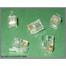 Wtyk wtyczki wtyki RJ9 4p4c złocone 50szt