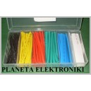Zestaw rurki rurek termokurczliwe kolorowych