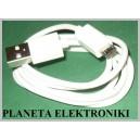 Biały kabel MICRO USB Nokia Samsung HTC 1m