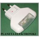 LAMPKA nocna 3 LED do kontaktu włącznik NOWA