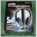 Słuchawki nauszne bezprzewodowe WIFI skype