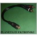ROZGAŁĘZIACZ RCA 2 wtyki / gniazdo kabel 30cm