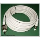 Kabel wtyk UHF / gniazdo FME biały 5m