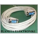Kabel do monitora SVGA dsub 15p wtyk - wt 3m