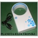 BEZŁOPATKOWY WENTYLATOR WIATRAK NA USB LUB BATERIE  Nowoczesny wiatrak bezłopatkowy zasilany poprzez USB lub baterie - idealne u