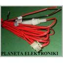 Kabel zasilający 4m gniazdo 30mm złącze 2P