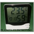 TERMOMETR LCD Stacja Pogody zegar wilgotność