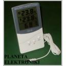 TERMOMETR LCD wew/zew wilgotnościomierz