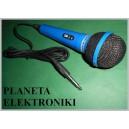 Mikrofon dynamiczny wtyk Jack 6,3mono 3m niebieski(3413