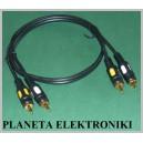 Kabel RCA ( cinch )2 wtyki / 2x wtyk 3m łezka