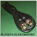 Kabel wtyk BNC - wtyk BNC Czarny 1,5m