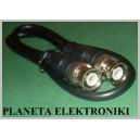 Kabel wtyk BNC - wtyk BNC Czarny 0,5m
