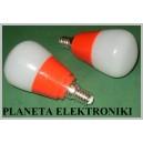 ŻARÓWKA 5W 20 LED SMD E14 230V CZERWONA