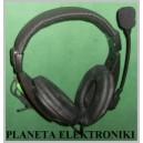 Słuchawki nauszne + mikrofon stereo skype