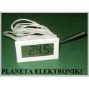 BIAŁY TERMOMETR panelowy LCD -50 do 290 st
