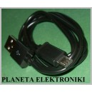 Czarny kabel mikro MICRO USB Samsung HTC 1m