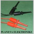 Chwytak pomiarowy haczyk l-43mm kabel 23cm 2szt