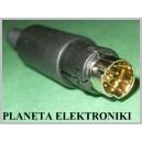 Wtyk mini DIN 8pin 8p na kabel do montażu