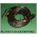 Kabel 2x wtyk RCA (cinch) - 2 RCA KĄTOWY 5m