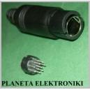 Wtyk mini DIN 9 pin 9p na kabel do montażu (1178)