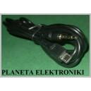 Kabel wtyk MICRO USB / jack 3,5 4-polowy 1,5m