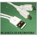 Kabel wtyk USB na Micro / Mini USB 2w1 16cm