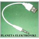 Kabel wtyk USB na AUX wtyk jack 3,5 4-polowy