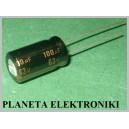 Kondensator LOW ESR 100uF 63V PANASONIC 10szt