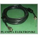 Kabel 2x wtyk F SATELITARNY anteny filtr 3m
