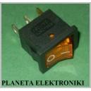 Przełącznik podświetlany mały 250V AC żółty