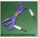Kabel 2x wtyk Mały Jack 3,5 stereo 1m ZŁOTY