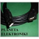 Przedłużacz USB 2.0 wtyk A / gniazdo A 5m czarny (0511)