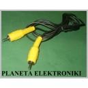 Kabel wtyk RCA ( cinch ) - wt RCA 1,8m żółty