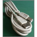 Kabel USB 2.0 A-B męski-męski wtA/wtB 1,8m (0512)