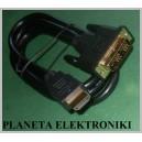 Kabel DVI 24+1 - HDMI 1,5m dekoder TV laptop