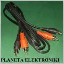 Kabel 2x wtyk RCA ( cinch ) - 2 x wt RCA 2,4m