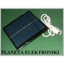 Ogniwo PANEL słoneczny USB 1W 5,5V 95x95x3mm