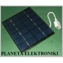 Ogniwo PANEL słoneczny USB 2W 6V 136x110x3mm