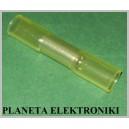 Łącznik cyna+klej 4-6 termokurczliwy żółty