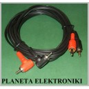 Kabel 2x RCA ( cinch ) - 2 wtyk RCA kątowy 3m(1489)