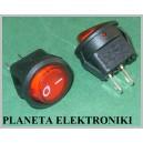 Przełącznik okrągły 250V Czerwony on-off 2pin (3145)