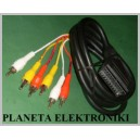 Kabel wtyk EURO SCART / 6x wt RCA cinch 2,5m(1065)