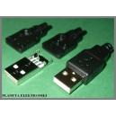 Wtyk USB A montowany na kabel + osłona 10szt (0237)