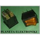 Przełącznik podśw Podwójny ZÓŁTY 15A 250V AC(3041)